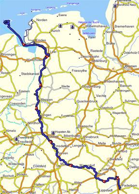 Borkum Karte Fahrradwege.Ems Radweg 2017 Ubersicht